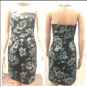 BANANA REPUBLIC strapless dress black/green Sz2